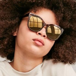 Tortoise reflective sunglasses urban outfitters